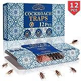 Kimimara Cockroach Trappole, 12 PCS Trappole per Scarafaggi con Bait Gratuita, per La Casa Pest Control Uccidere